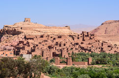 Beautiful Fortification of Ait Ben Haddou. Fortification of Ait Ben Haddou, an ancient village in Morocco Royalty Free Stock Image