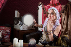Beautiful Fortune Teller Royalty Free Stock Photos