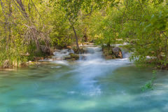 Beautiful Fossil Creek. A  scenic fossil creek landscape in northern arizona Stock Photo
