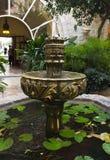 Beautiful fountain. In a small garden Stock Photo