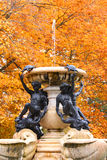 Beautiful fountain in autumn time Royalty Free Stock Photos