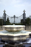 Beautiful fountain in Bahai garden Stock Photo