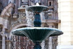 Beautiful fountain. In the town square royalty free stock photos