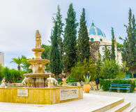 The beautiful fountain Stock Photography