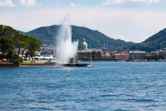 Beautiful fountain in Como city (Italy) Royalty Free Stock Photos