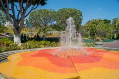 Beautiful fountain in downtown Disney District Royalty Free Stock Photos
