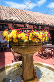 Beautiful Fountain and Flowers Royalty Free Stock Photos