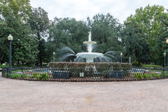 Beautiful Fountain in Forsyth Park. Beautiful old fountain in Savannah's Forsyth Park stock image