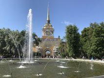 Enjoying the summer in saint Petersburg, Russia stock photography