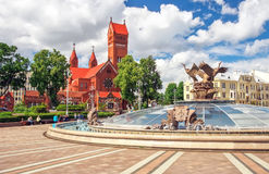 Beautiful fountain in Independence Square Royalty Free Stock Images