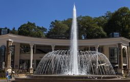 Beautiful fountain in Kislovodsk Stock Photo