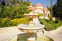 Beautiful fountain in Monastery of Saint George Stock Photography