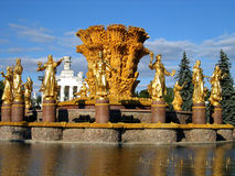 Beautiful fountain in Moscow. Stock Photos