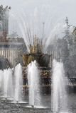 Beautiful fountain in Moscow Royalty Free Stock Images