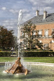 Beautiful fountain near the Royal Palace of Aranjuez, Spain. Aranjuez, Spain - October 16, 2016: Beautiful fountain near the Royal Palace of Aranjuez,  located Stock Images