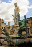 Beautiful fountain of Neptune in Florence Royalty Free Stock Photo