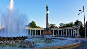 A beautiful fountain on a nice sunny day Stock Photography