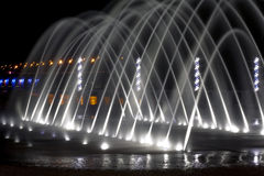 Beautiful fountain in the night city Royalty Free Stock Photo