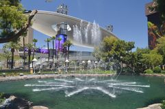 Beautiful Fountain Of One Of The Las Vegas Strip Hotels. Travel Vacation royalty free stock images