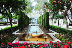 Beautiful fountain in Palma de Majorca royalty free stock image