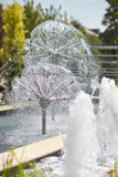 Beautiful fountain in the park Stock Images