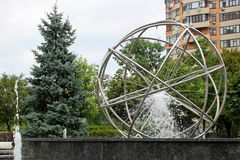 Beautiful fountain in the park. Water stock photo
