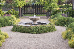 Beautiful Fountain Path Royalty Free Stock Images