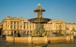 Beautiful fountain on the Place de la Concorde Stock Photos