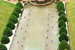 Beautiful fountain pool Stock Photos