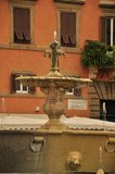 Beautiful Fountain in Rome square Farnese Stock Photography
