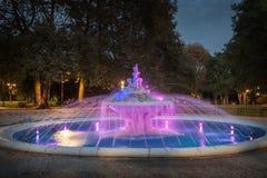 Beautiful fountain in sea garden in Varna, the sea capital of Bulgaria Stock Photos