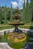 Beautiful fountain and turtles in the Giusti gardens. The Giusti Palace and Garden, Italian: Palazzo e giardino Giusti are located in the east of Verona. The stock image