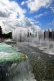 Beautiful fountain under sky Stock Image