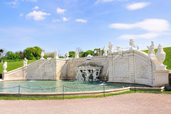 Beautiful fountains in Belvedere Palace.Vienna. Austria. Stock Photo