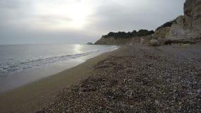 Beautiful Fourni beach, Rhodes island, Greece. Timelapse 4K stock footage