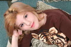 Beautiful Fourteen Year Old Girl royalty free stock photo