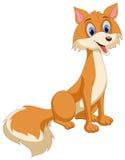 Beautiful Fox. This is a cartoon illustration of beautiful fox Stock Photos