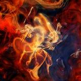 Beautiful fractal background. Wallpaper illustration Royalty Free Stock Photos