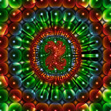 Beautiful fractal image. An beautiful and colorful computer-generated fractal design Royalty Free Stock Photos
