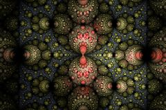 Beautiful fractal wallpaper black and colorful geometric shapes illustrate space universe magic frequency explosion galaxy or gala. Xies. Fractal Royalty Free Stock Images