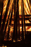Fire and bright wooden coals Stock Photos