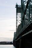 Beautiful fragment of metal drawbridge over Columbia River in pe Stock Photos