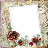Beautiful frame with flowers Royalty Free Stock Photos