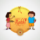 Beautiful frame for Happy Rakhi celebration. Royalty Free Stock Photo