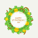 Beautiful frame for Happy St. Patrick's Day celebration. Stock Image