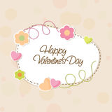 Beautiful frame for Happy Valentines Day celebration. Royalty Free Stock Images