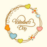 Beautiful frame for Happy Valentine's Day. Royalty Free Stock Images