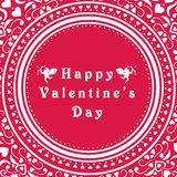Beautiful frame for Happy Valentines Day celebration. Stock Images