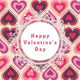 Beautiful frame for Happy Valentines Day celebration. Stock Photography