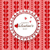 Beautiful frame for Happy Valentines Day celebration. Stock Image